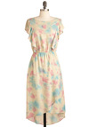 You Batter Believe It Dress - Multi, Yellow, Blue, Pink, Tie Dye, Party, Short Sleeves, Long, Ruffles, Spring, Pastel, High-Low Hem, Tis the Season Sale