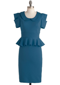 Work with Me Dress in Pool Blue