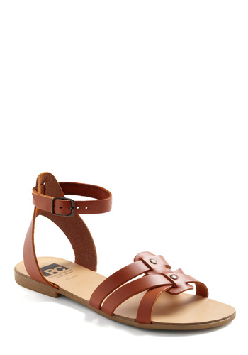 Have You Ever Wandered? Sandal in Tan by BC Shoes - Tan, Solid, Casual, Summer