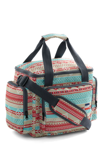 Snappy Trails Soft Cooler - Multi, Red, Blue, Print, Travel