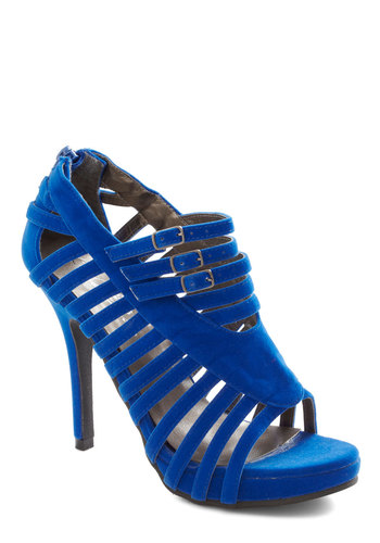 You're on Sapphire Heel - Blue, Cutout, Solid, High, Girls Night Out, Tis the Season Sale