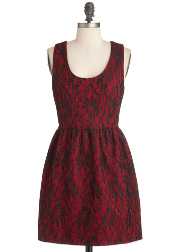 Prague Frock Dress in Crimson