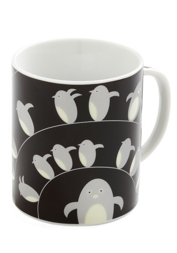 Flipper a Coin Mug - Black, Grey, White, Print with Animals