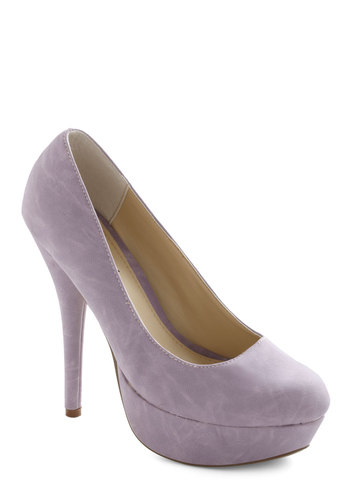 Lavender Wonder Heel - Purple, Solid, High, Platform, Work, Pastel