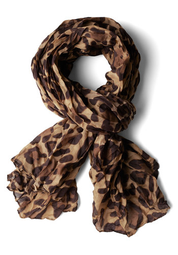 Save My Spots Scarf - Safari, Brown, Animal Print