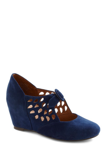 Droplet It Be Wedge by Jeffrey Campbell - Wedge, Blue, Cutout, Mid, Holiday Party