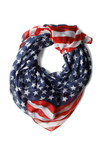Rock Star-Spangled Scarf - Multi, Casual, Statement, Red, Blue, White