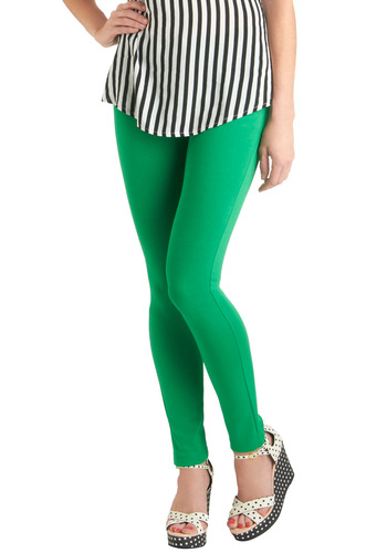 So Much Fun Pants in Green - Green, Solid, Pockets, Casual, Skinny, Long