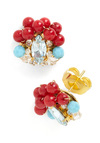 Gumball Glamour Earrings - Red, Blue, Beads, Party, Holiday Party