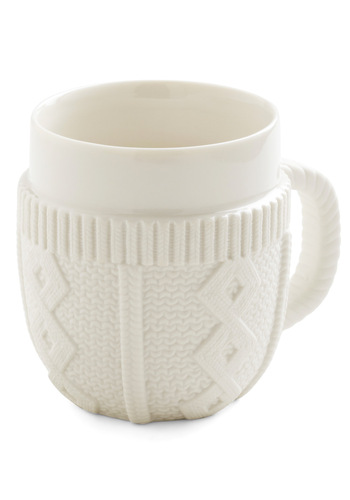 Don't Sweater It Mug - White, Quirky, Solid