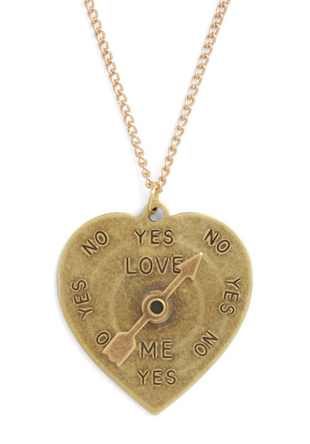 Answer Me Honestly Necklace - Gold, Solid