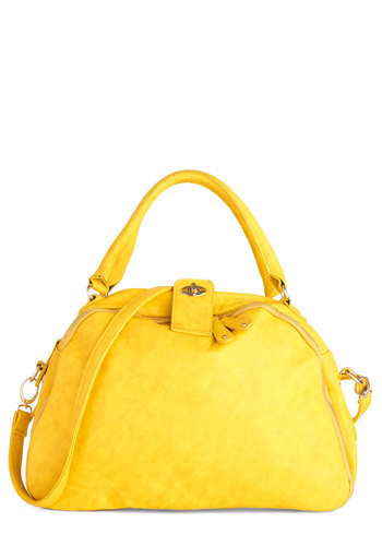Golden Hits Bag - Yellow, Solid, Casual, Urban, Faux Leather