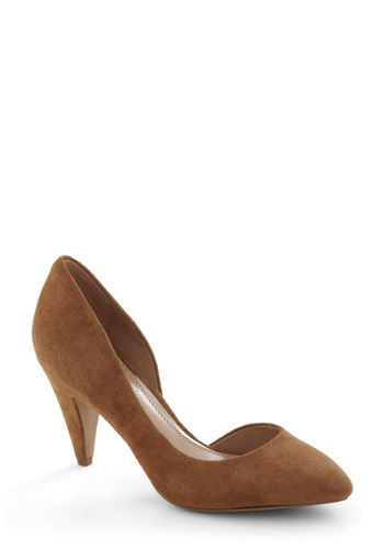 Cappuccino CEO Heel - Solid, Mid, Brown, Work, Leather