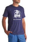 Claw Enforcement Men's Tee - Blue, White, Casual, Short Sleeves, Long, Quirky, Jersey, Print with Animals, Cats