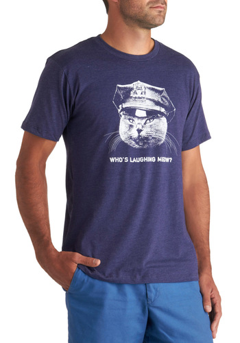 Claw Enforcement Tee in Mens - Blue, White, Casual, Short Sleeves, Long, Quirky, Jersey