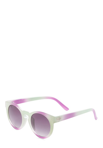 Fade from View Sunglasses by Quay - Blue, Tie Dye, Casual, Urban, Pink, Summer