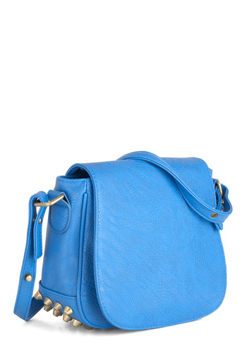 Made for Blue Bag - Blue, Silver, Solid, Studs, Casual, Urban, Faux Leather