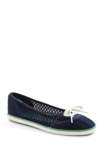 Life's a Breeze Flat by Keds - Blue, Green, White, Crochet, Flat, Casual