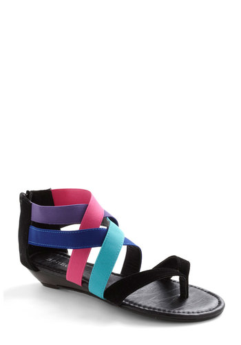 Let's Get Array Sandal - Blue, Purple, Pink, Black, Low, Woven, Summer