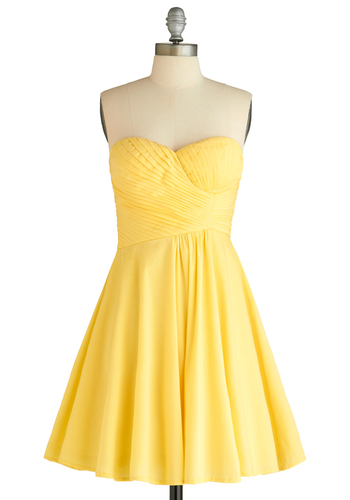 Step Into the Bright Dress