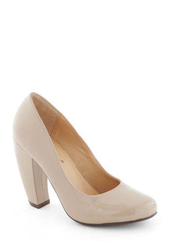 Wise and Shine Heel - Tan, Solid, Work, Faux Leather, High, Graduation