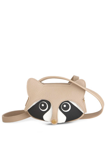 Masked Marvel Shoulder Bag - Tan, Black, White, Casual, Kawaii, Handmade & DIY, Statement, Leather