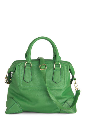 The All-Star Bag - Green, Solid, Casual, Faux Leather, Work
