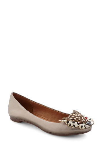 Claw What You Did There Flat by Jeffrey Campbell - Silver, Red, Brown, Tan / Cream, Solid, Animal Print, Statement, Leather, Flat, Tis the Season Sale