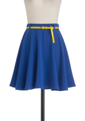 Have a Cobalt Skirt - Short, Blue, Solid, Belted, Ballerina / Tutu, Blue