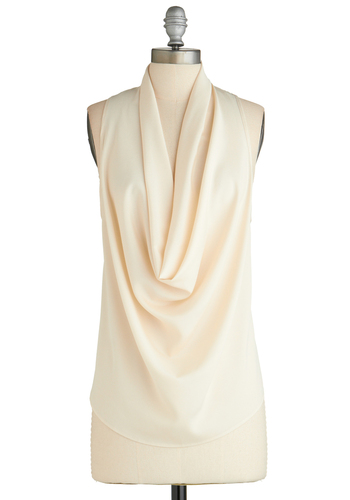 Sample 1918 - Cream, Solid, Lace, Sleeveless