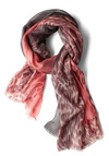 Roof Party Animal Scarf - Pink, Grey, Animal Print, Fringed, Casual