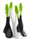Feeling Peckish Utensil Set - Quirky, Minimal, Eco-Friendly, Green, Black, White, Dorm Decor