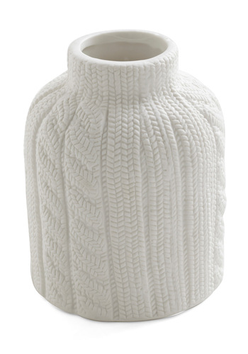 Sweater Yet Vase - White, Quirky, Minimal