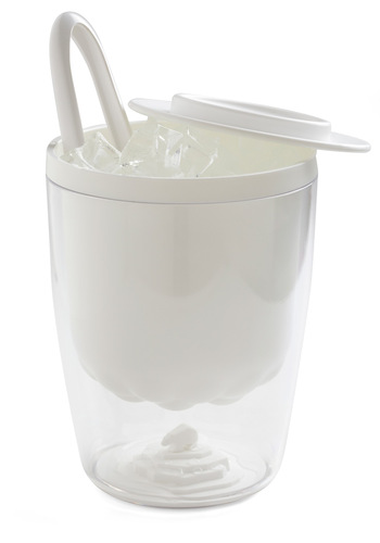 Arctic Aperitif Ice Bucket - White, Quirky, Minimal, Eco-Friendly, Solid