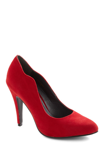 Ruby Mine Heel - Red, Solid, Party, Cocktail, Holiday Party, High
