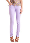 Spring in Every Season Jeans in Lavender - Purple, Solid, Casual, Skinny, Pockets, Long, Pastel, Denim, Cotton, Variation