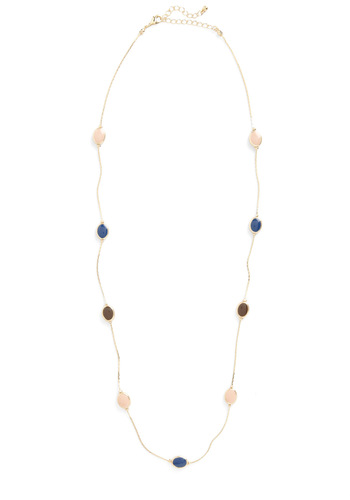 Days of Gold Necklace - Green, Blue, Pink