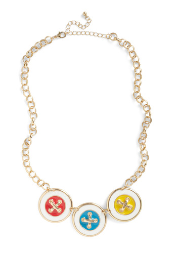 Fasten Forward Necklace - Yellow, Blue, Pink, White