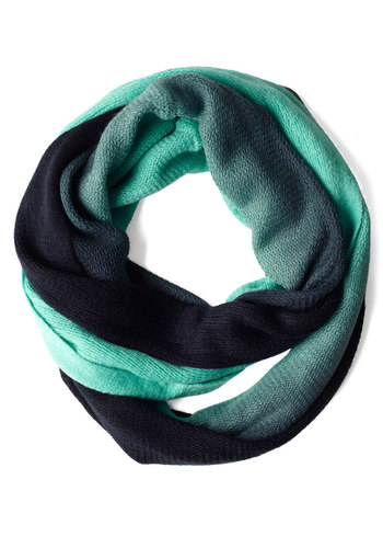 Not Bluffing Scarf - Green, Blue, Knitted, Casual