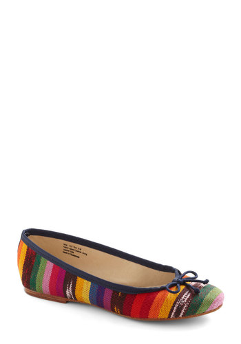 Late Night Light Show Flat - Multi, Stripes, Bows, Casual, Boho, Multi, Flat