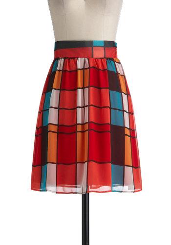 One in a Mullion Skirt