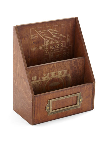 Right at Home Base Desk Organizer - Brown, Urban, Rustic, Work