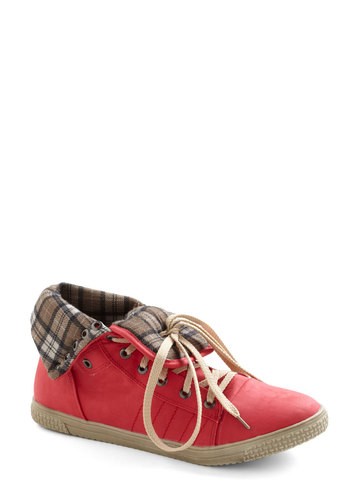 Game for Style Sneaker - Red, Casual, Urban, Tan / Cream, Vintage Inspired, Low, Travel
