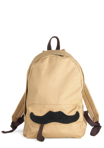 Nouveau Richard Backpack - Tan, Brown, Black, Casual, Urban, Steampunk, Menswear Inspired, Cotton, Travel