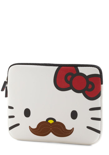Groomed for Success iPad Sleeve - White, Red, Brown, Kawaii, Travel