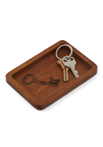 Latch Stop Key Tray - Brown, Urban, Rustic