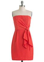 Orange Dresses - It's a Tie Dress