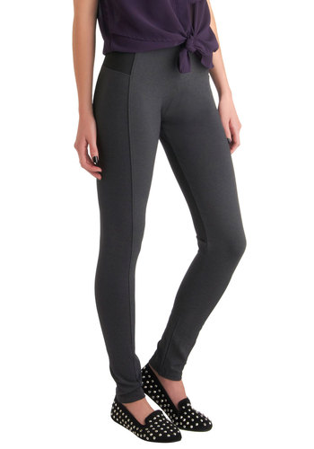 On-the-Go Glam Leggings in Charcoal - Grey, Black, Casual, Vintage Inspired, Long, Top Rated