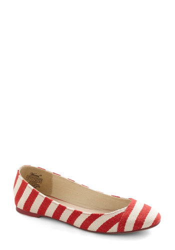 Ready or Naut Flat in Cherry - Stripes, Nautical, Flat, Red, White, Casual, Summer