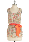 Tier, There, and Everywhere Top - Multi, Multi, Floral, Tiered, Casual, Tank top (2 thick straps), Summer, Belted, Mid-length, Pastel